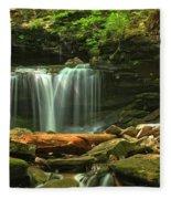 Cascading Through Glen Leigh Fleece Blanket