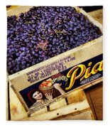Case Of Sangiovese Grapes Fleece Blanket