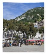 Casemates Square In Gibraltar Fleece Blanket