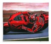 Casey Stoner On Ducati Fleece Blanket