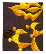Cash Brass Fleece Blanket