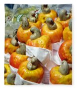 Cashew Fruit - Mercade Municipal Fleece Blanket