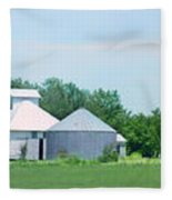 Cass County Farm Fleece Blanket