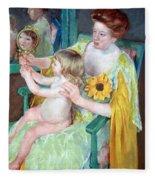 Cassatt's Mother And Child Fleece Blanket