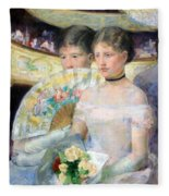 Cassatt's The Loge Fleece Blanket
