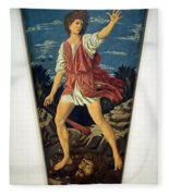 Castagno's David With The Head Of Goliath Fleece Blanket
