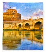 Castel Sant'angelo Fleece Blanket