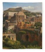 Castel Sant'elmo From Chiaia. Naples Fleece Blanket