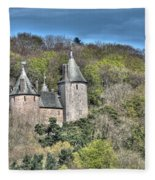 Castell Coch Cardiff Painterly Fleece Blanket