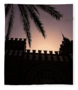 Castell Dels Tres Dragons ... Fleece Blanket