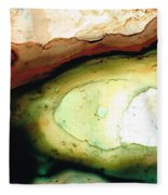 Casting Shadows - Earthy Abstract By Sharon Cummings Fleece Blanket