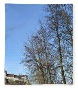 Castle And Trees Fleece Blanket