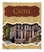 Castle Button Fleece Blanket