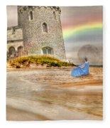 Castle By The Sea Fleece Blanket