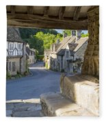 Castle Combe - View Fleece Blanket