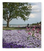Castle Garden Schwerin - Germany Fleece Blanket
