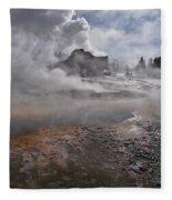 Castle Geyser In Winter Fleece Blanket