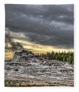 Castle Geyser - Yellowstone Fleece Blanket