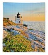 Castle Hill Lighthouse 1 Newport Fleece Blanket