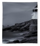 Castle Hill Lighthouse Bw Fleece Blanket