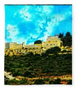 Castle In The Hot Summer Sun Fleece Blanket