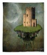 Castle In The Sky Fleece Blanket