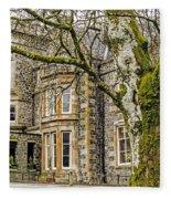 Castle Of Scottish Highlands Fleece Blanket