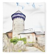 castle of the holy order - Sovinec castle Fleece Blanket