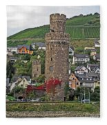 Castle Of The Rhine Fleece Blanket
