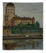Castle Of Vyborg Fleece Blanket