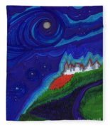 Castle On The Cliff By Jrr Fleece Blanket