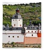Castle Pfalzgrafenstein Fleece Blanket