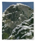 104619-castle Rock In Winter Dress Fleece Blanket