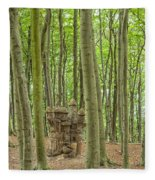 Castle Tree Stump Fleece Blanket