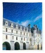 Castles Of France Fleece Blanket