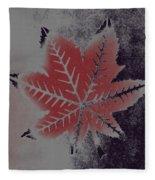 Castor Leaf Fleece Blanket