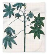 Castor Oil Plant Fleece Blanket