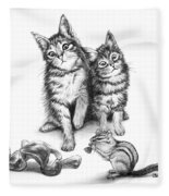 Cat Chips  Fleece Blanket