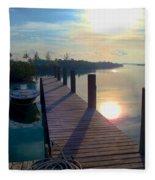Cat Island Dock Fleece Blanket