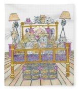 Cat Lady - In Bed Fleece Blanket