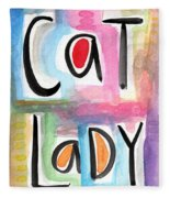 Cat Lady Fleece Blanket