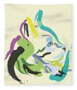 Cat Lisa Fleece Blanket