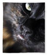 Cat Looking Up Fleece Blanket
