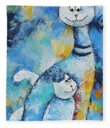 Cat Mommy Fleece Blanket