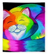 Cat Napping 2 Fleece Blanket