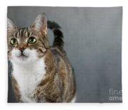 Cat Portrait Fleece Blanket