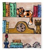 Cat Shelves Fleece Blanket