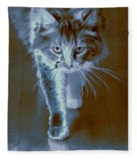 Cat Walking Fleece Blanket