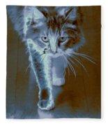 Cat Walking Fleece Blanket
