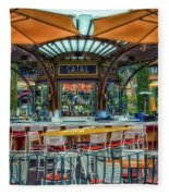 Catal Outdoor Cafe Downtown Disneyland 01 Fleece Blanket